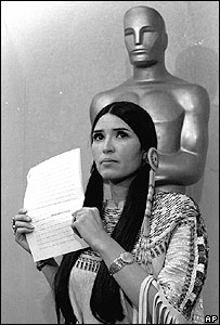 Marlon Brando's representative at the 1973 Oscars