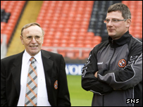 Dundee United chairman Eddie Thompson and manager Craig Levein
