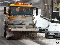 Gritters were out in force in Northumberland