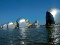 Thames flood barrier (Image: BBC)