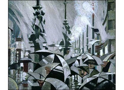 Stanely Cursiter's 1913 work Rain on Princes Street