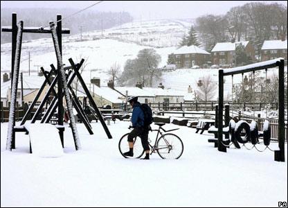 Cyclist in Nunthead, Cumbria