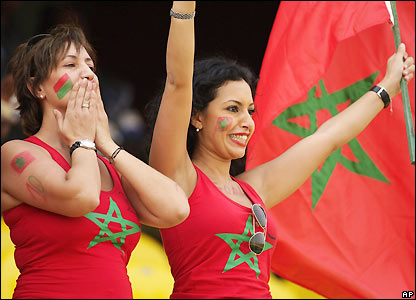 Morocco fans enjoy the action in Accra