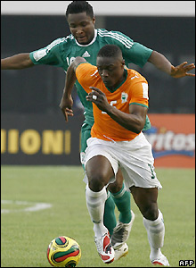 Ivory Coast's Aruna Dindane