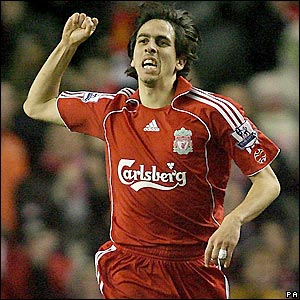 Yossi Benayoun celebrates the opener
