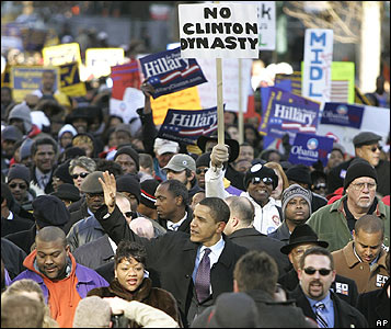 Barack Obama marches in Columbia, South Carolina