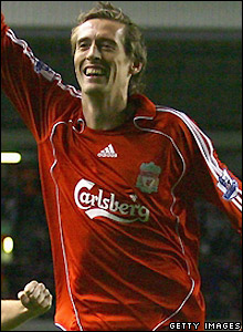 Crouch celebrates his equaliser