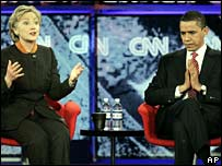 Hillary Clinton and Barack Obama in South Carolina 21 Jan 2008