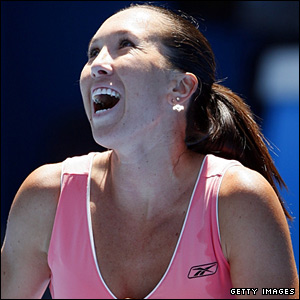 A relieved Jankovic completes her win and will play Maria Sharapova in the semi-finals on Thursday