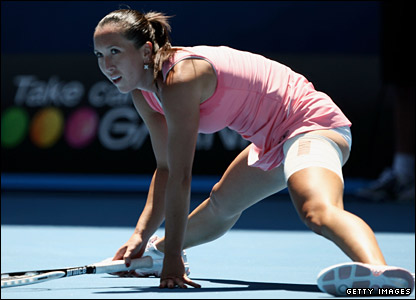 Serena ups her game to leave Jankovic stretching that bad leg and the second set is in the balance