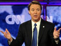 Senator John Edwards during Monday's debate