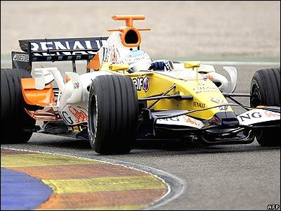 Fernando Alonso in the new Renault