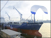 Beluga Skysails at dockside (pic: SkySails GmbH & Co. KG)