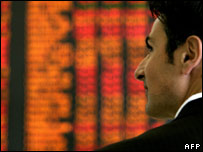 A trader at the Australian Stock Exchange