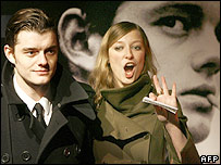 Sam Riley with girlfriend and Control co-star Alexandra Maria Lara