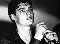 Sam Riley as Ian Curtis in Control