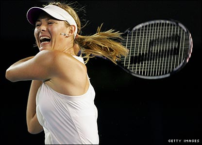 Fifth seed Sharapova dictates proceedings from the outset with a succession of winners to take the opening set 6-4