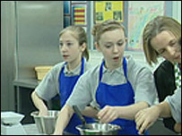 Pupils cooking