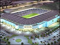 Cardiff's proposed new stadium