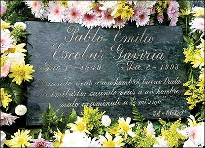 Pablo Escobar's gravestone