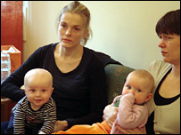 Mothers at a child clinic in Stockholm