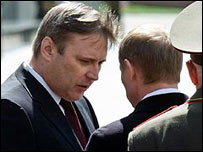 Mikhail Kasyanov and President Putin. File photo