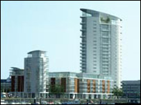 Artist's impression of the Ferrara Quay complex
