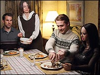 Paul Schneider, Emily Mortimer and Ryan Gosling in Lars and the Real Girl