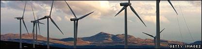 Braes of Doune windfarm, Stirling in Scotland