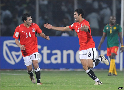 Abd Rabou celebrates his second goal
