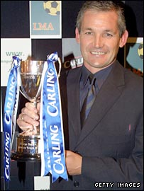 Ipswich finished fifth in the Premier League in 2001 and Burley was named Manager of the Year