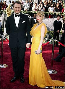 Heath Ledger and fianc� Michelle Williams at the 2006 Academy Awards