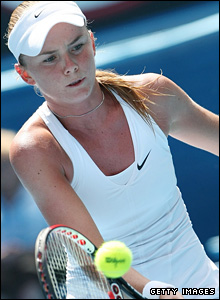 Ninth seed Daniela Hantuchova is up against Polish teenager Agnieszka Radwansk in her quarter-final match