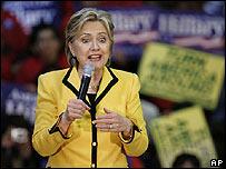 Clinton en Salinas, California, el 22 de enero