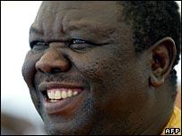 File photograph of Morgan Tsvangirai