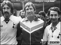 Ricky Villa, Keith Burkinshaw and Ossie Ardiles