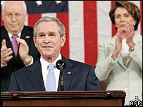 President Bush at the end of his 2007 State of the Union speech