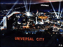 Universal City at night