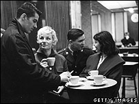 British cafe in the 50s