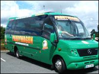 A Paddywagon tour bus was set alight