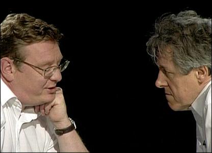 Griff Rhys Jones and Mark Mardell