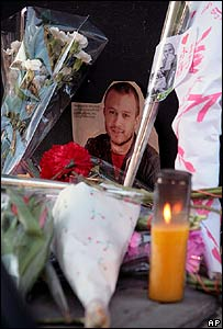 Heath Ledger tribute in New York