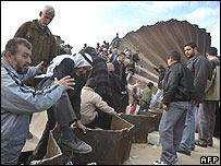 Rafah crossing 23 January 2008