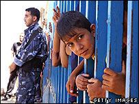 Boy at Rafah crossing 10 July 2007