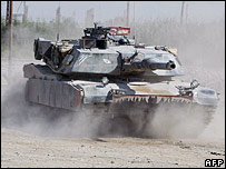 A US Army Abrams tank in Iraq