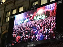 Broadcasting the Manchester Passion on a big screen