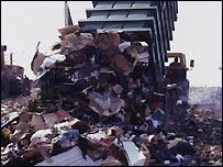 Rubbish at landfill site