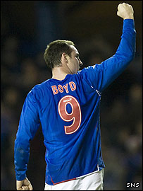 Kris Boyd notched a hat-trick for Rangers