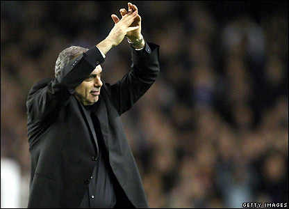 Chelsea manager Avram Grant applauds his team