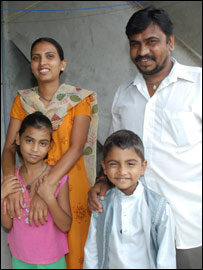 Pushpa Pandya and family